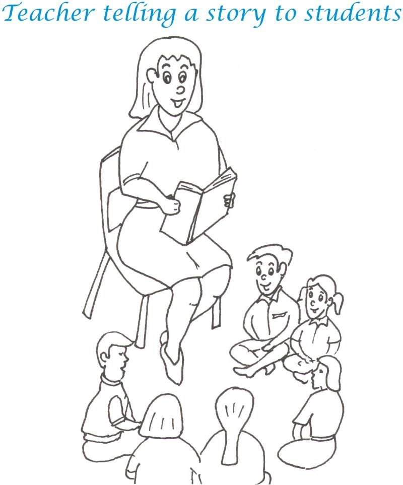 coloring pages of teachers - photo#19