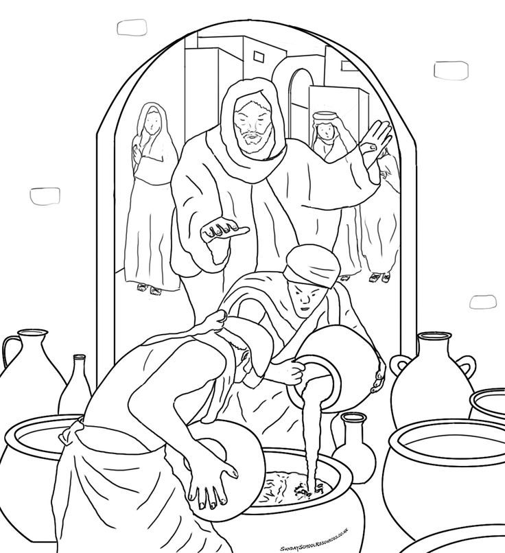 Wedding At Cana Coloring Page