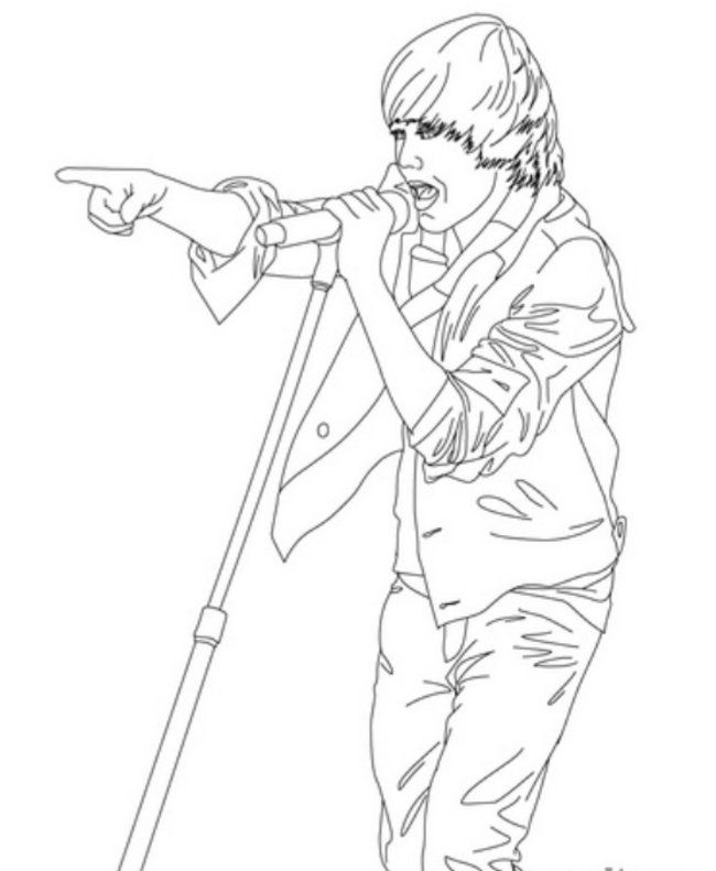 Justin Bieber Printable | Uncategorized | Printable Coloring Pages