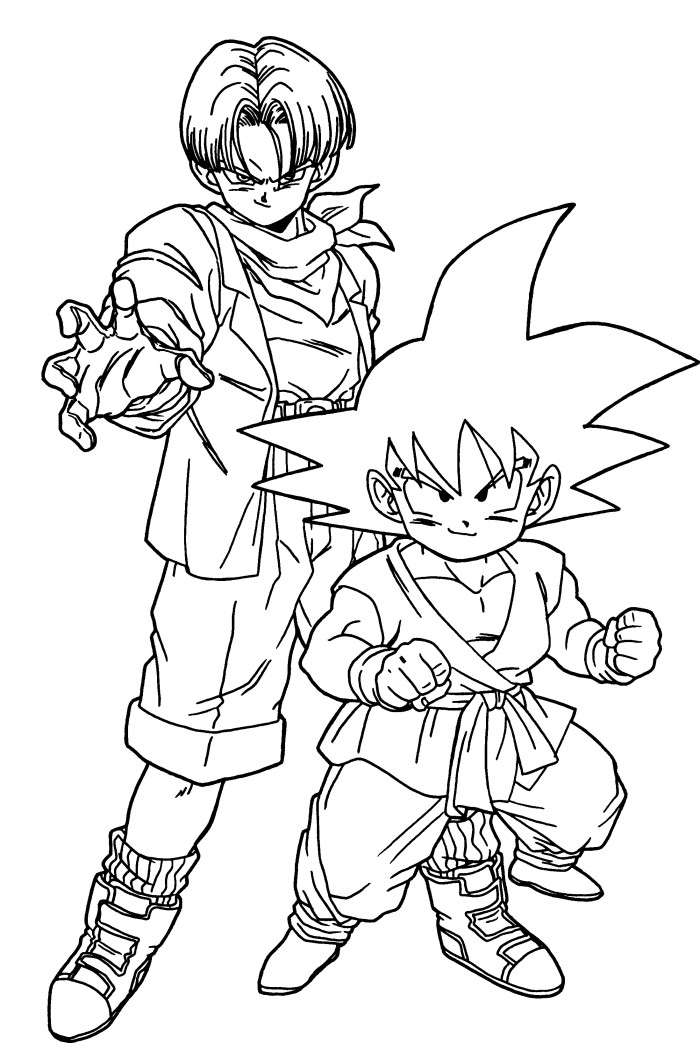 Free Coloring Pages Of Goku Trunks