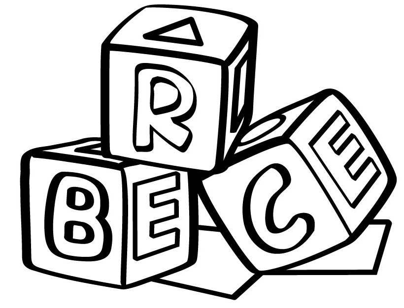 Alphabet Blocks Coloring Pages Free Printable Download Coloring