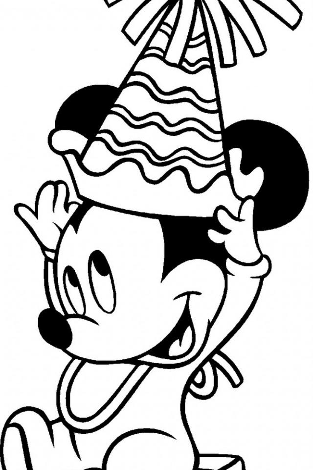 mickey birthday coloring pages - minnie mouse birthday coloring pages az coloring pages