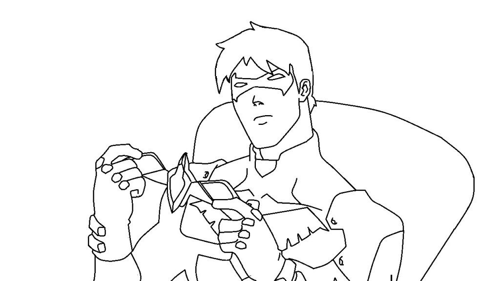 Cool Not Posted Nightwing Coloring Page - deColoring