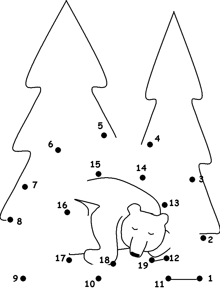 coloring pages bear hibernating - photo#19