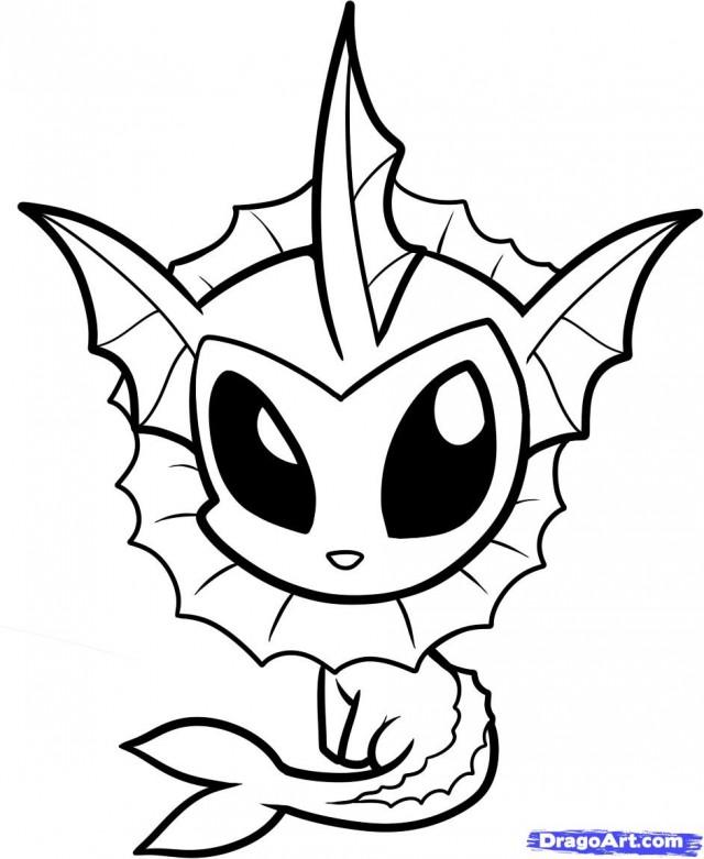 Pokemon printouts az coloring pages for Vaporeon pokemon coloring pages