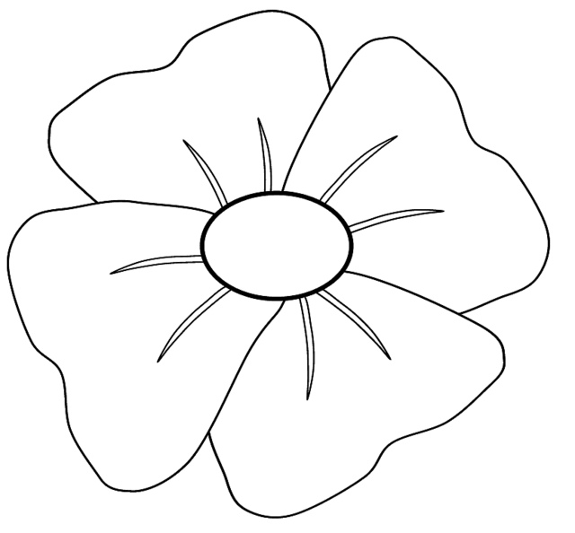 Anzac day poppy flower colouring pages az coloring pages for Poppy flower coloring page