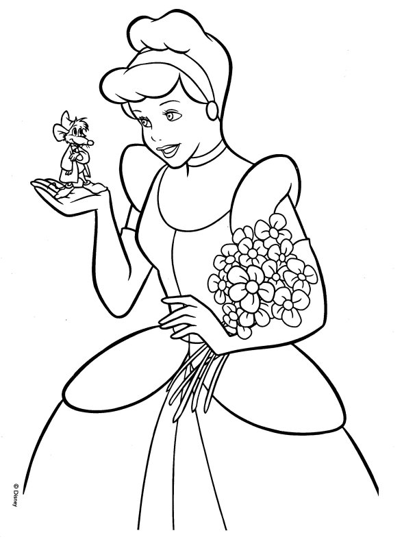 Cinderella Coloring Pages Coloringmates 2014 | Sticky Pictures