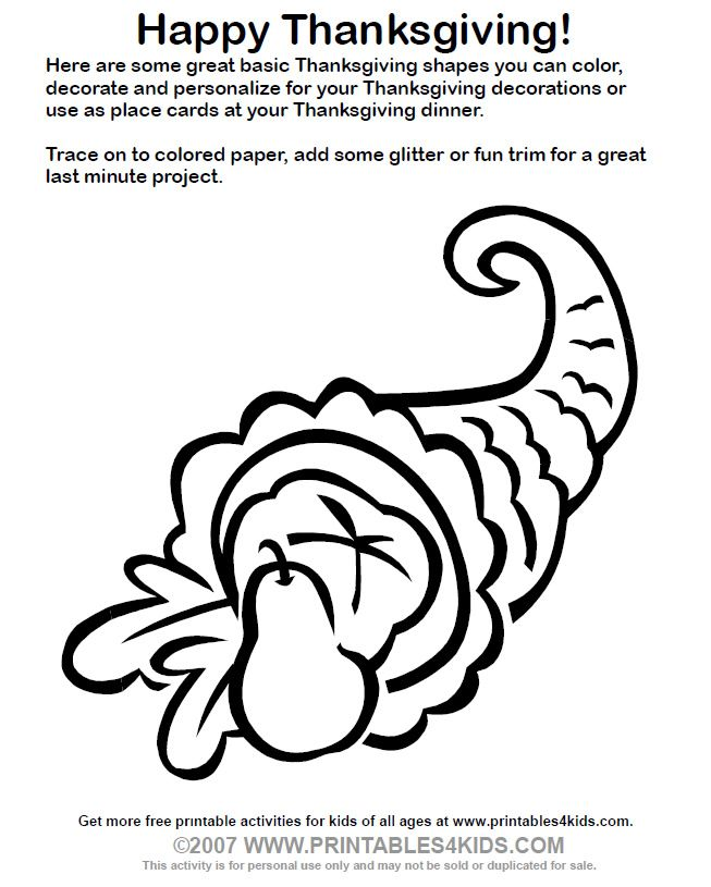 cornucopia coloring pages to print - cornucopia color page coloring home