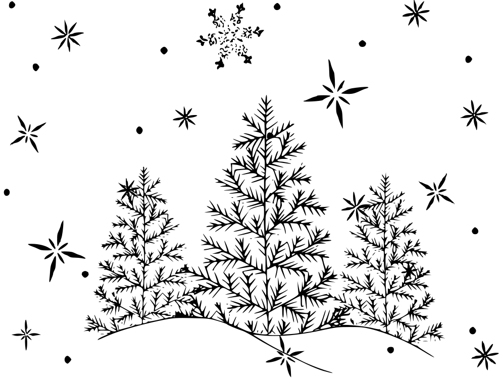 Snowy Day Coloring Pages Coloring Home