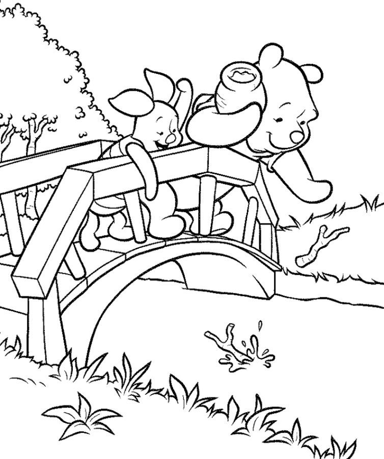 Pooh & Piglet's Coloring Pages