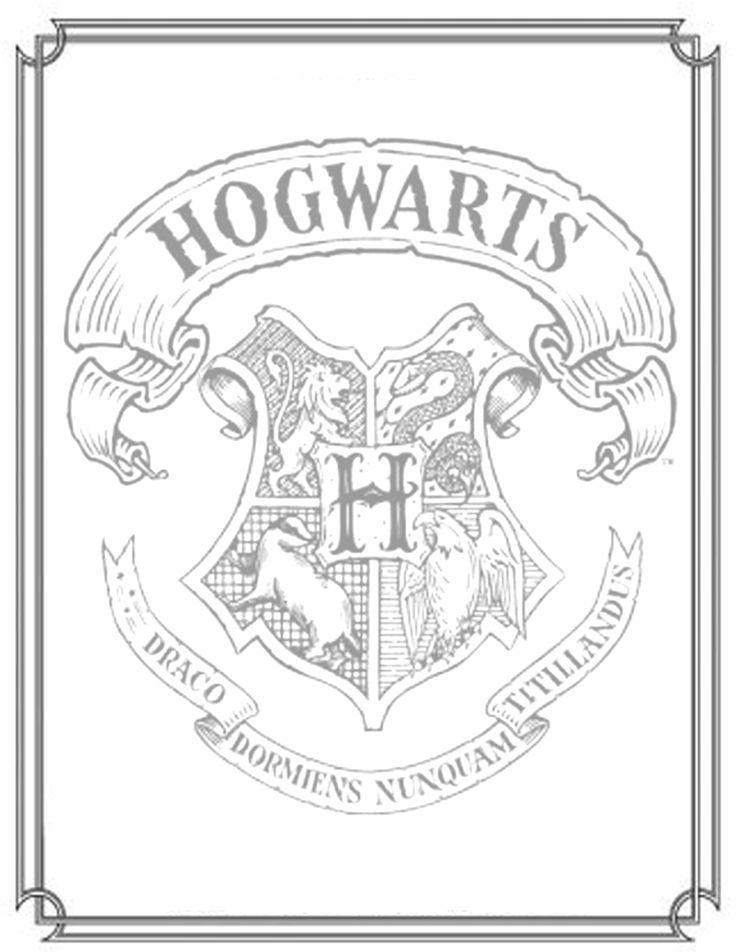 Hogwarts Crest Coloring Pages Hogwarts Crest Coloring Pages