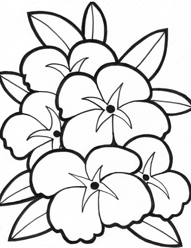 Simple Flower Coloring Pages | Sewing rag quilt and more