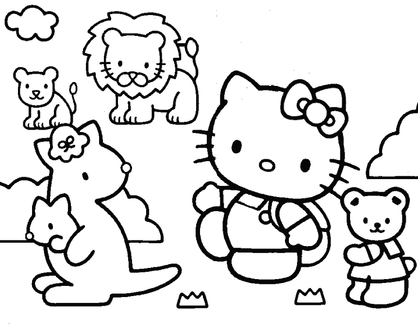 Hello Kitty Coloring Pages Roll : Hello kitty cartoon characters coloring home