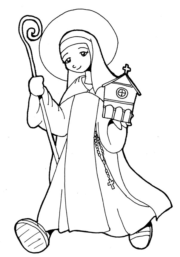 Catholic Saint Coloring Pages Az Coloring Pages Catholic Coloring Pages