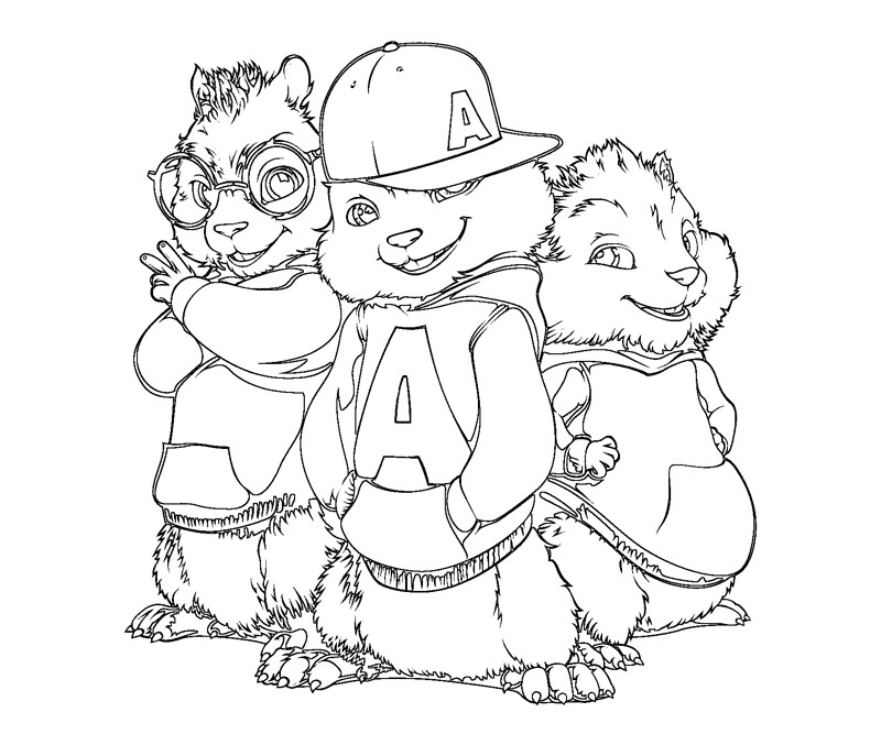chipmunks coloring pages printable - photo#13