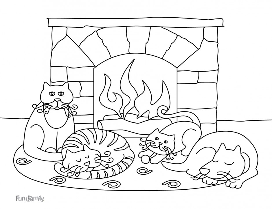 cute winter coloring pages - photo#24