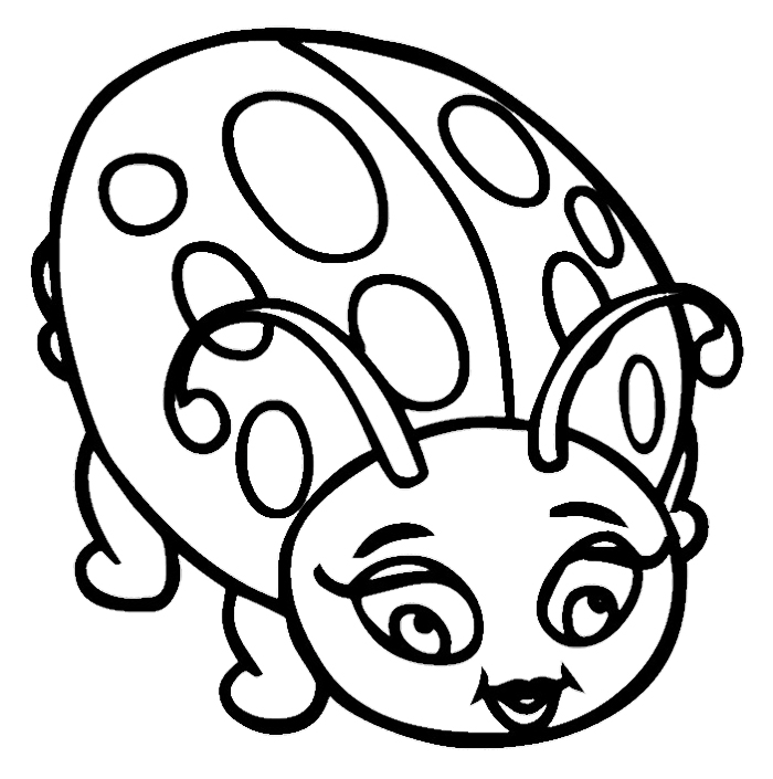 Cute ladybug coloring pages az coloring pages for Coloring pages of ladybugs