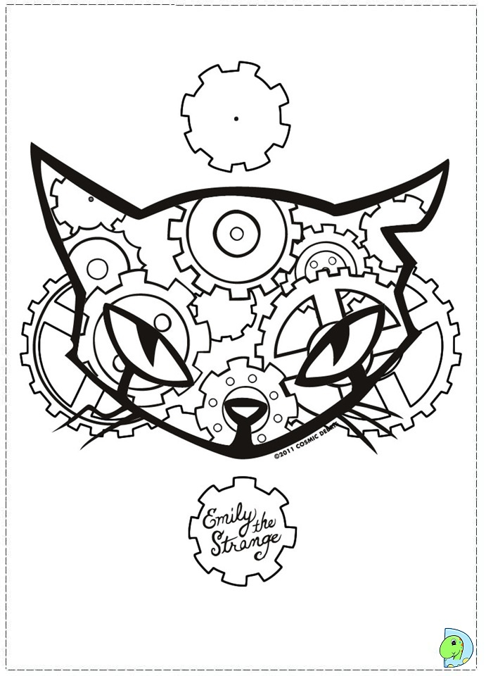 emily strange coloring pages - photo#4