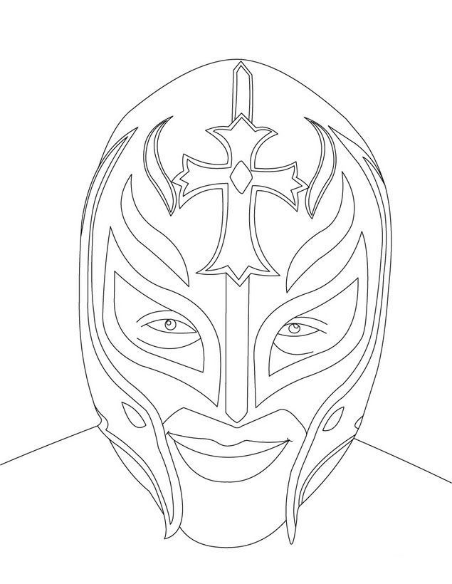 Rey Mysterio Mask Coloring Pages Coloring Home Mysterio Coloring Pages