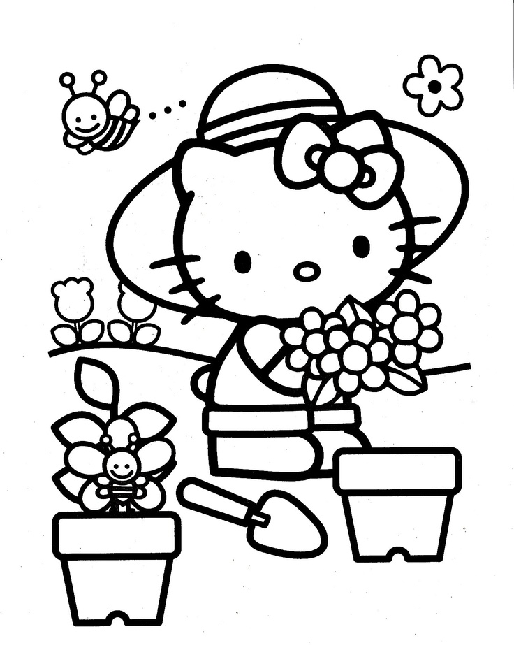 pretty hello kitty coloring pages - photo#28