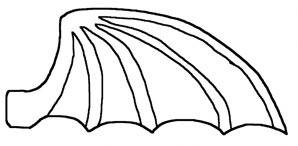 Dragon wing coloring coloring pages for Dragon cutout template