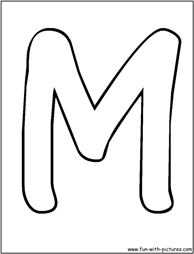 Coloring To Print Numbers And Shapes Alphabet Letter M