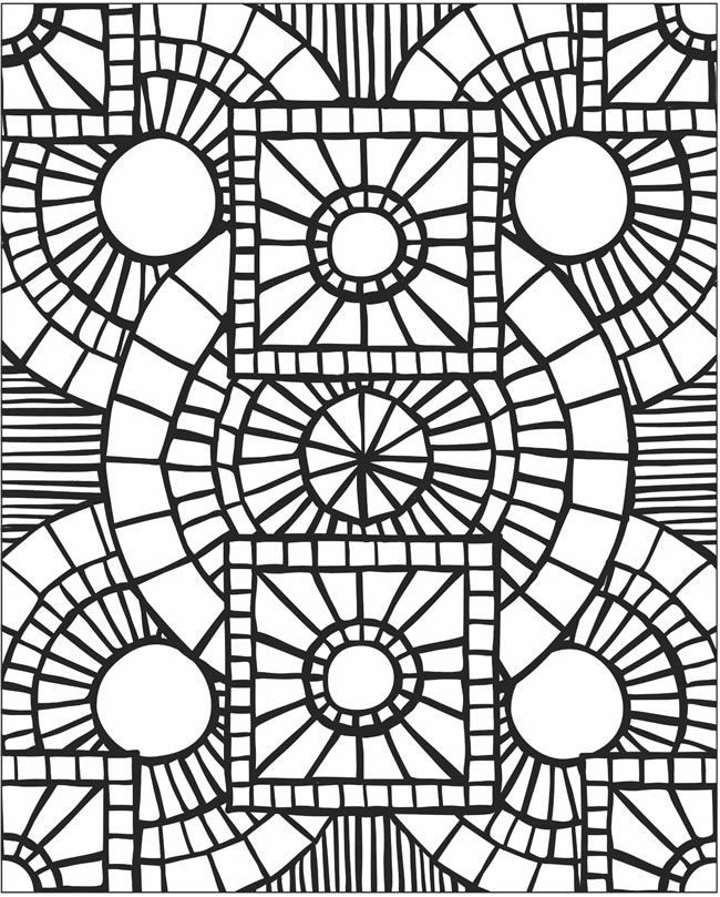 mosaics coloring pages - photo#3
