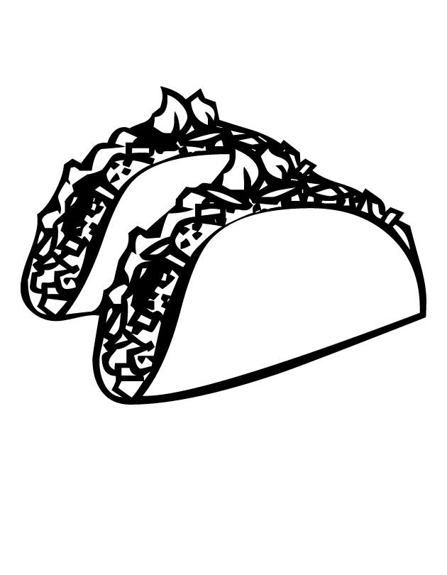 printable mexican food coloring pages - photo#12