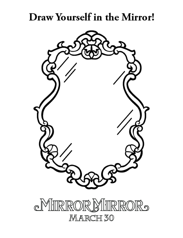 Hand Mirror Coloring Page Coloring Pages