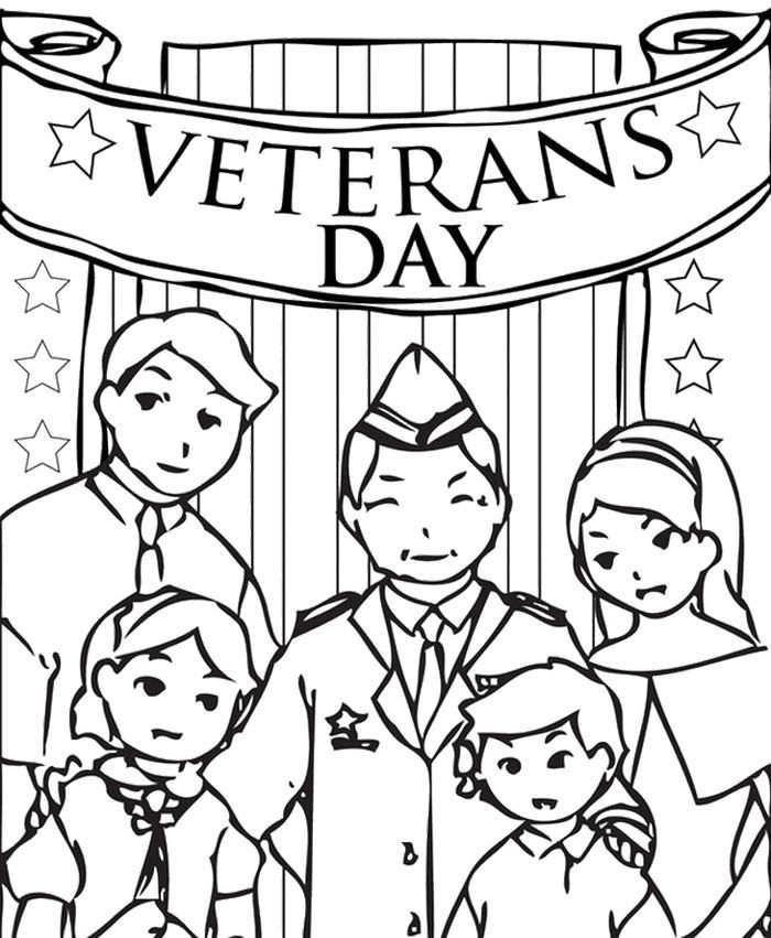 Coloring Pages For Veterans Day Printables : Veterans day remembrance coloring home
