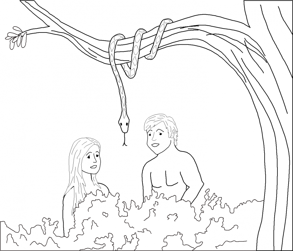 Victorious Coloring Pages Adam And Eve Coloring Pages Kids 199150