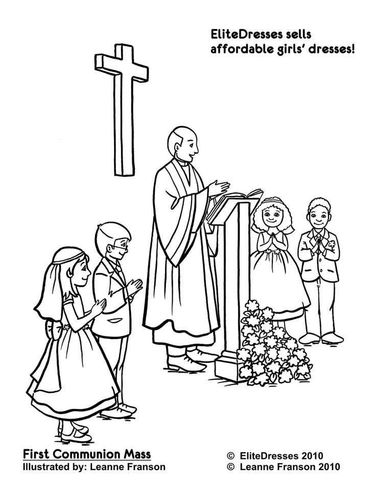 catholic coloring pages mass - photo#8