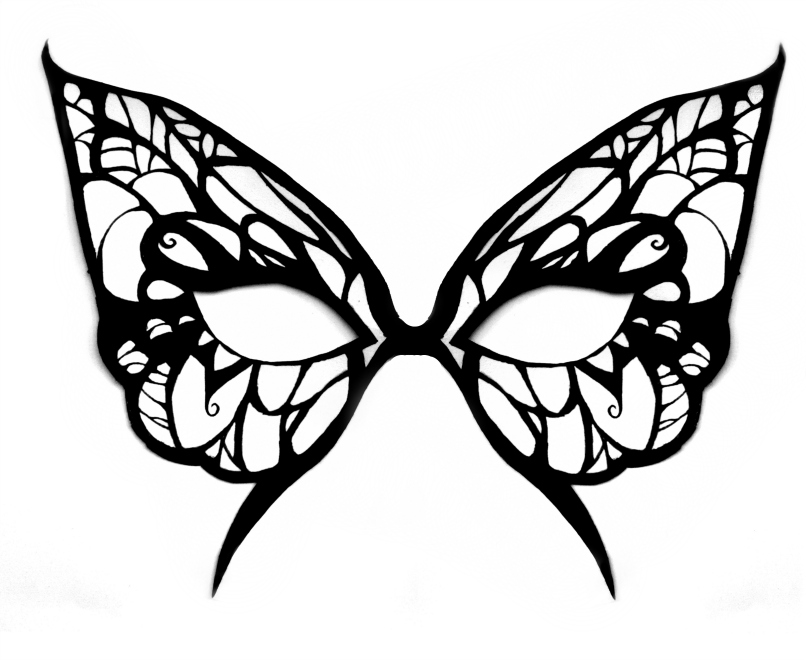 Masquerade Mask Stencil Cake Ideas And Designs AZ Coloring Pages
