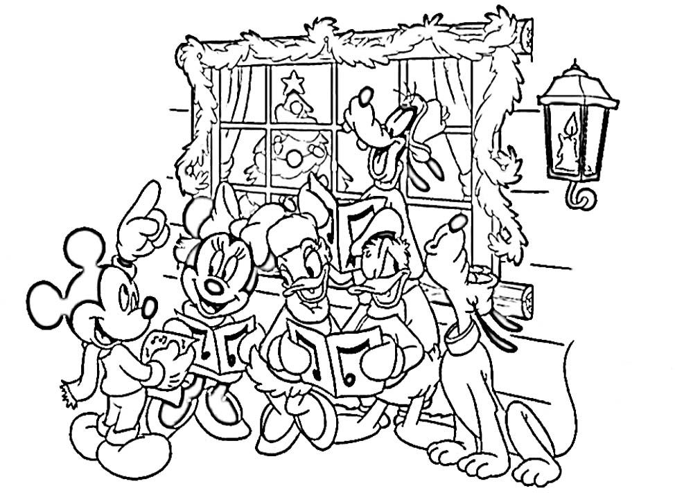 xmas disney coloring pages - photo#50