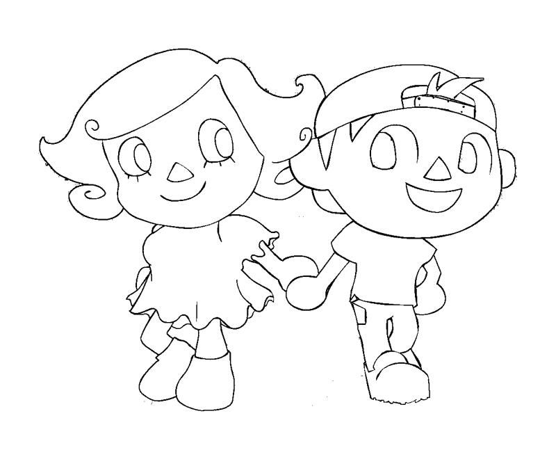 This is a graphic of Witty animal crossing coloring pages