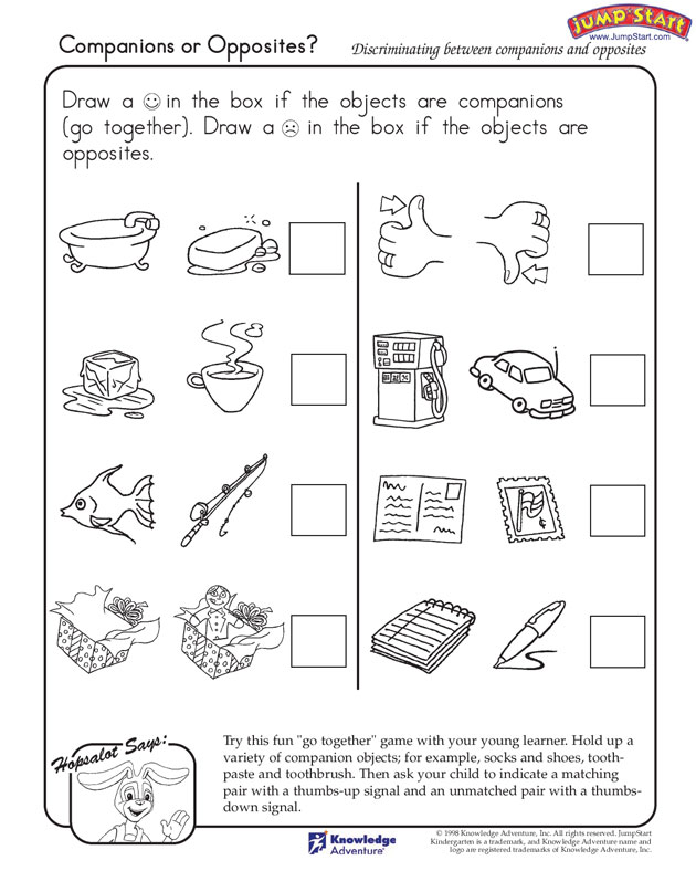 Opposites Coloring Pages - AZ Coloring Pages