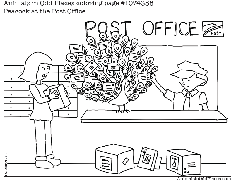 Post Office Coloring Page - Coloring Home