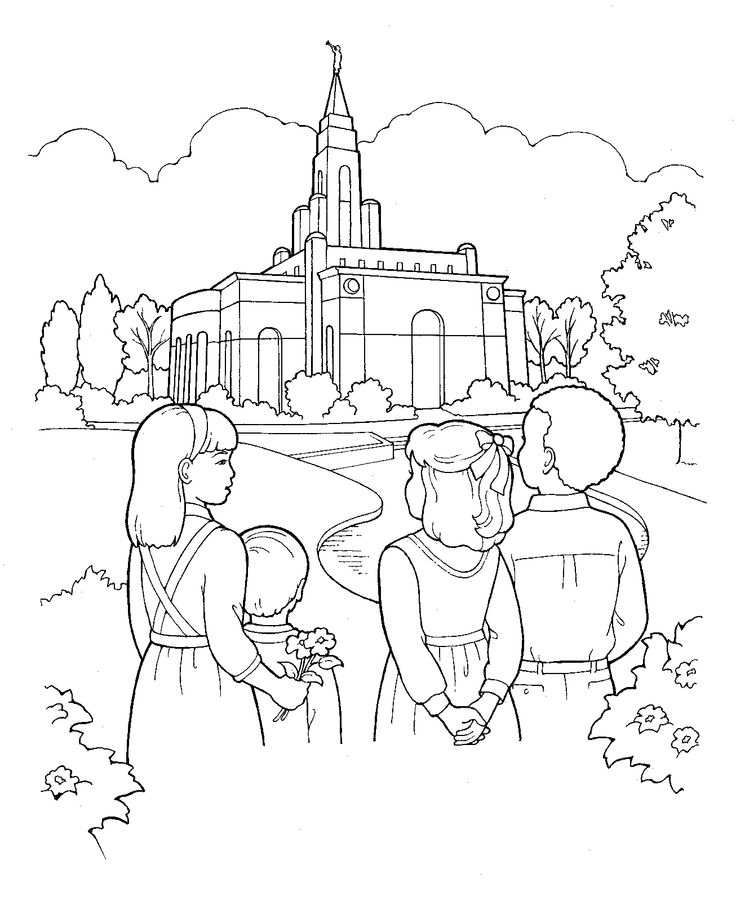 LDS Primary Coloring Pages