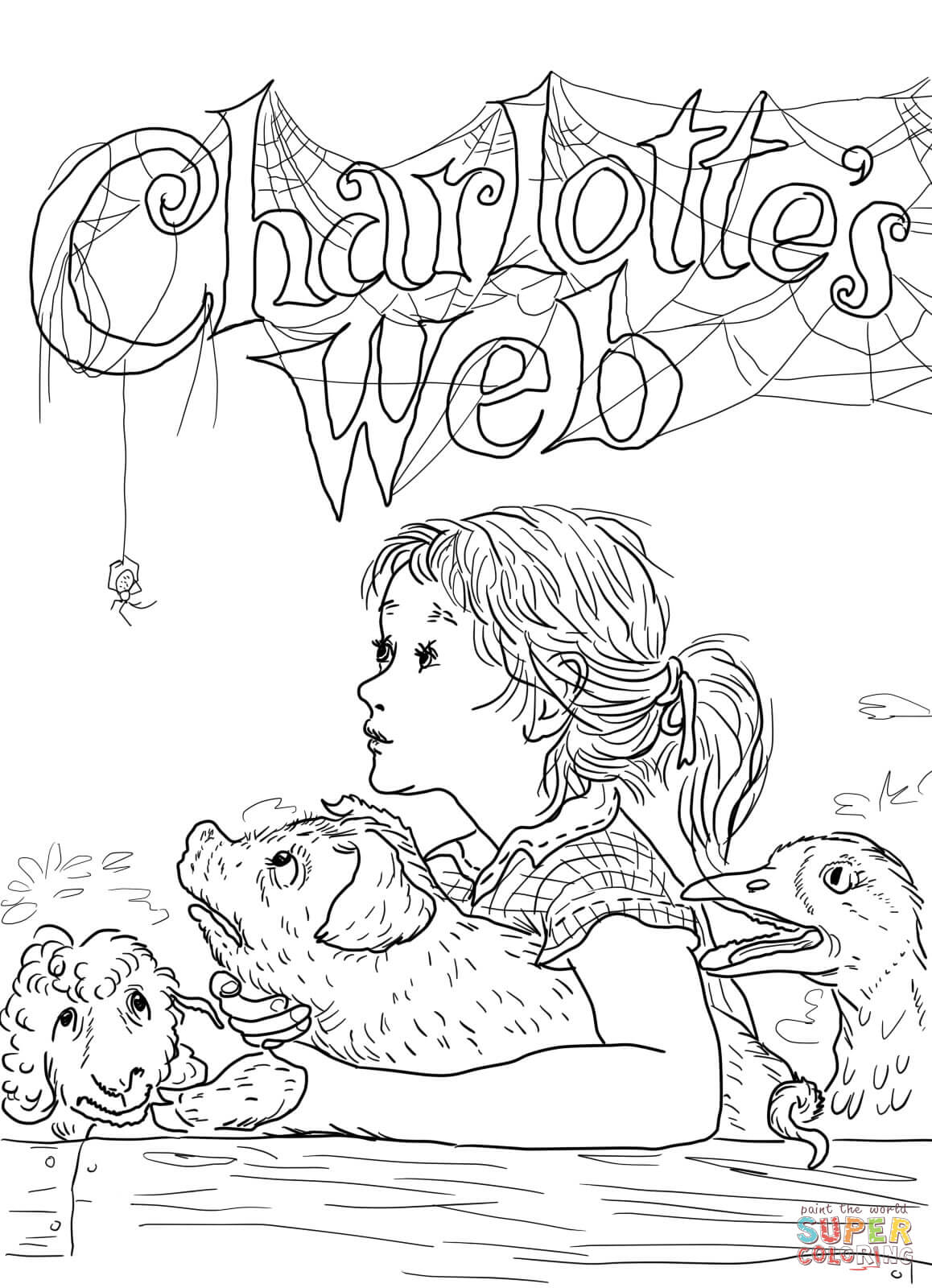free charlotte s web coloring pages coloring home