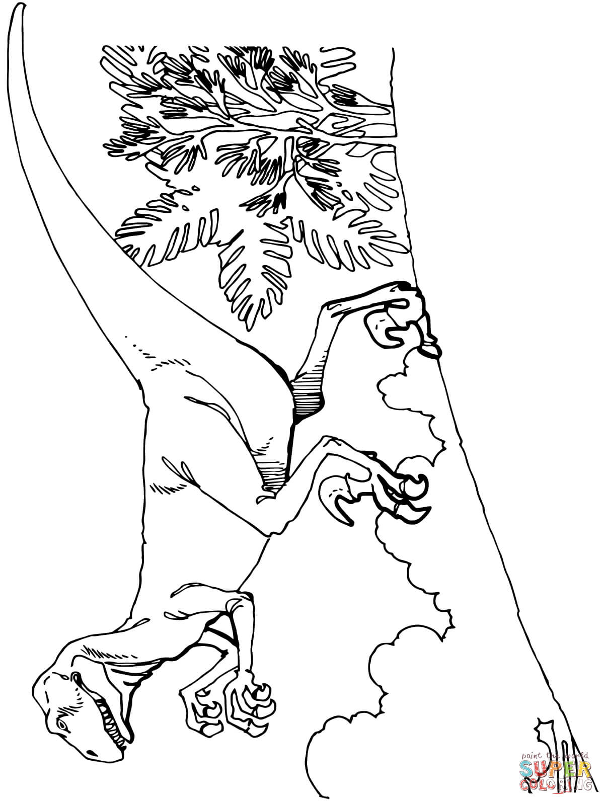 deinonychus coloring pages - photo#21