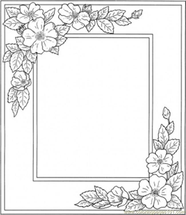 photograph relating to Printable Picture Frame known as 6 Simplest Pictures Of Frames Coloring Internet pages Printable - Body