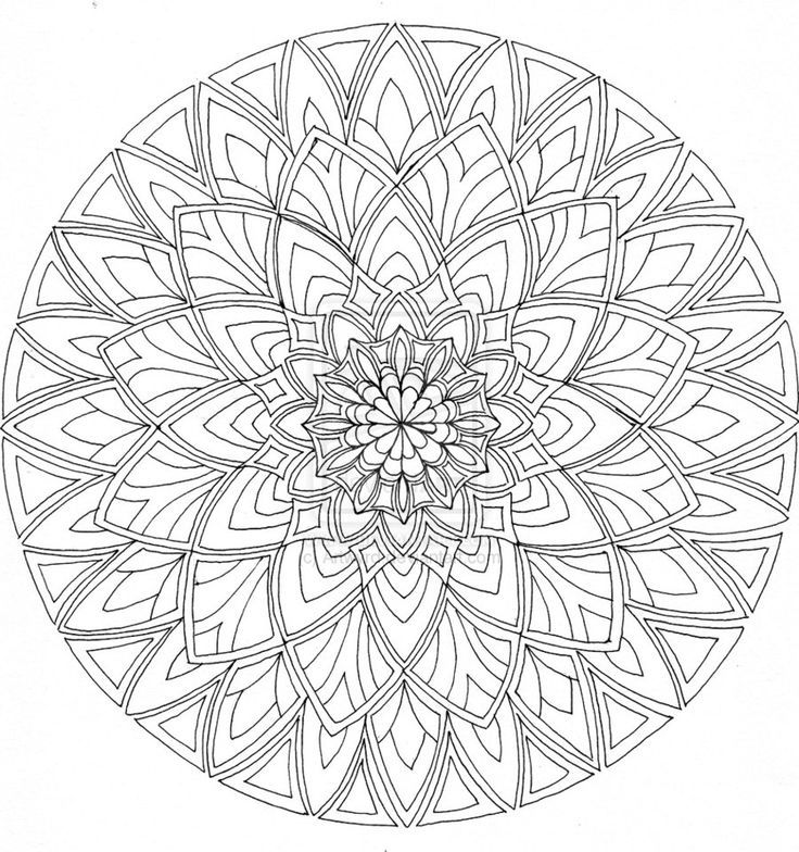 Download Free Printable Mandalas Coloring Pages Adults