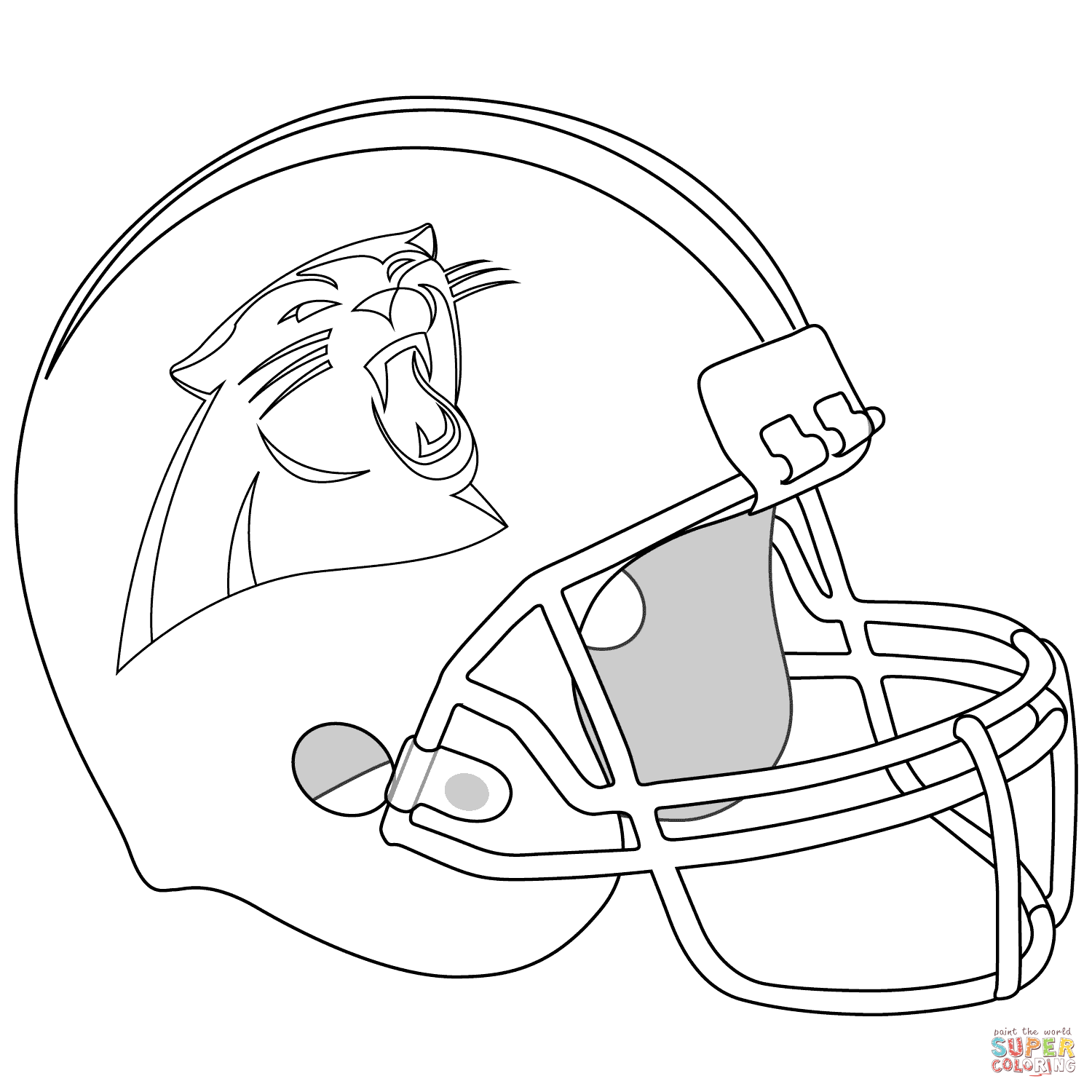 panthers football coloring pages panther football coloring logo coloring coloring pages