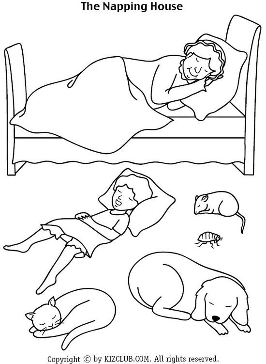 The Napping House Coloring Pages Az Coloring Pages Napping House Coloring Pages