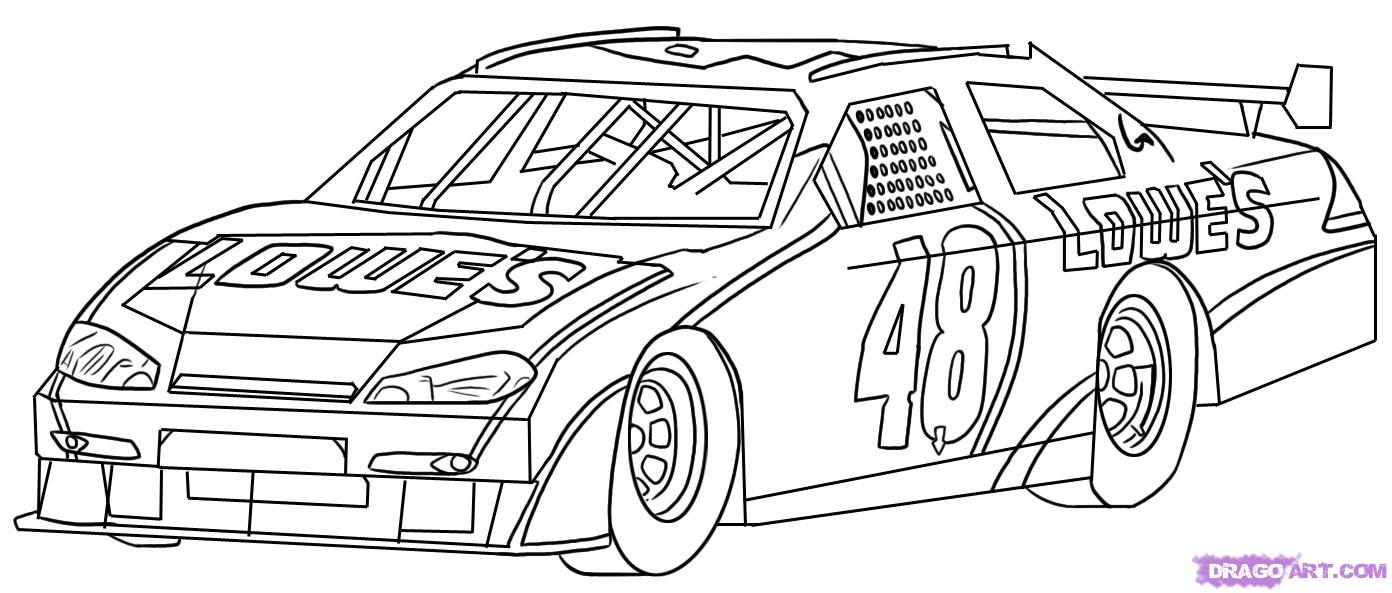 Free coloring pages nascar - Johnson Nascar Coloring Pages Free Of Jimmy Sketch Template