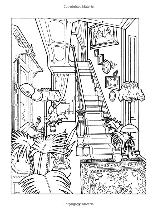 victorian mansion coloring pages - photo#14