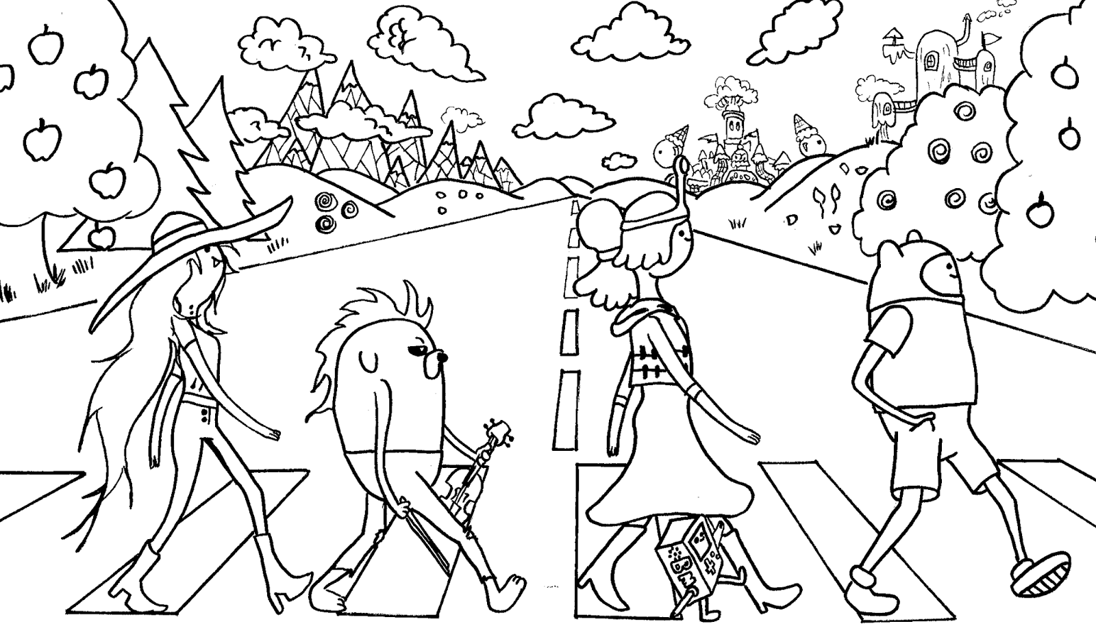 adventure time free coloring pages coloring home