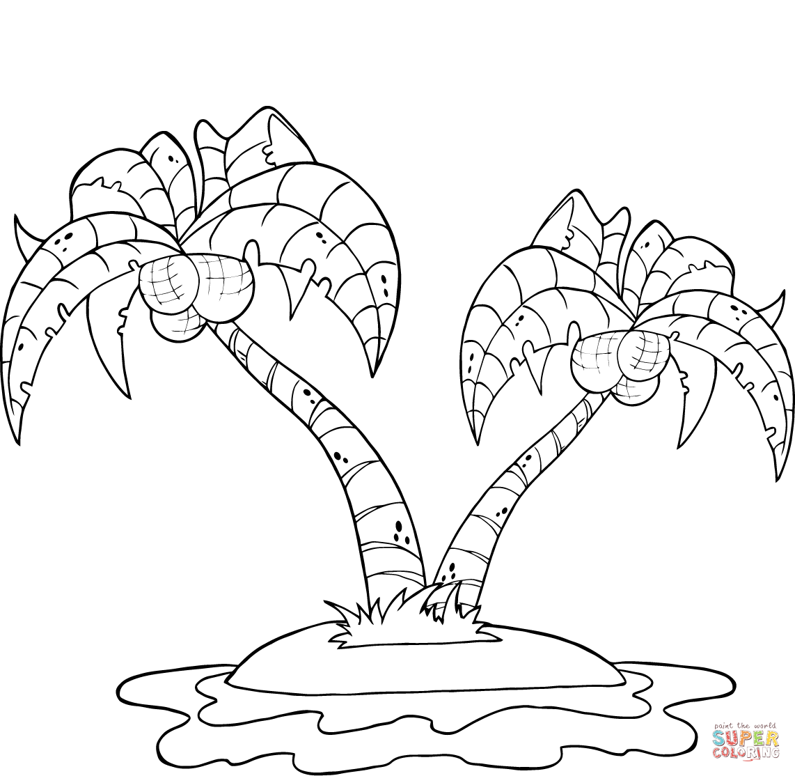 - Coconut Tree Coloring Page - Coloring Home