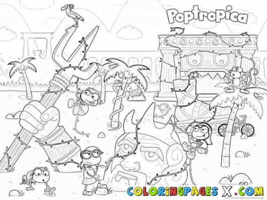 Poptropica coloring pages az coloring pages for Poptropica coloring pages