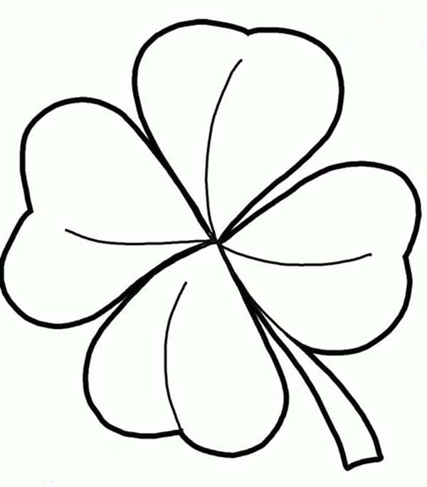 coloring pages 3 leaf clover - photo#8